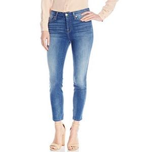 7FAM Kimmie Crop Medium Wash Jeans Size 31